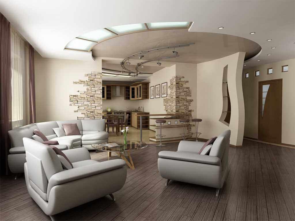 variante du décor lumineux du salon 25 m²