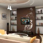 Un exemple de décoration lumineuse d'un salon de 17 m² photo