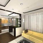 variante du bel intérieur du salon photo de 16 m²