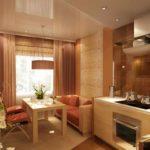 Un exemple d'un intérieur lumineux d'un salon de 25 m²