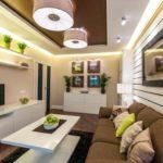 biến thể của một trang trí đẹp của một phòng khách hình ảnh 19-20 m2