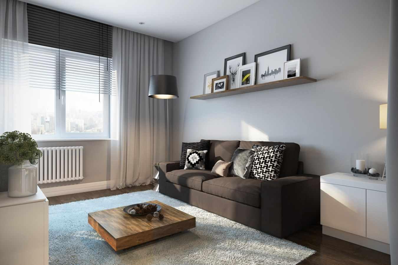 ý tưởng sử dụng nội thất sáng sủa của phòng khách theo phong cách tối giản