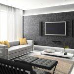 tùy chọn sử dụng thiết kế ánh sáng của phòng khách theo phong cách ảnh tối giản