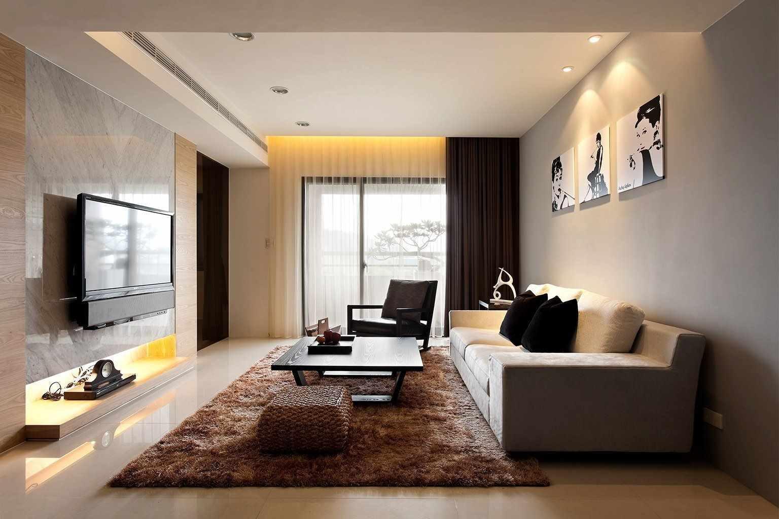 một ví dụ về việc áp dụng một thiết kế khác thường của phòng khách theo phong cách tối giản