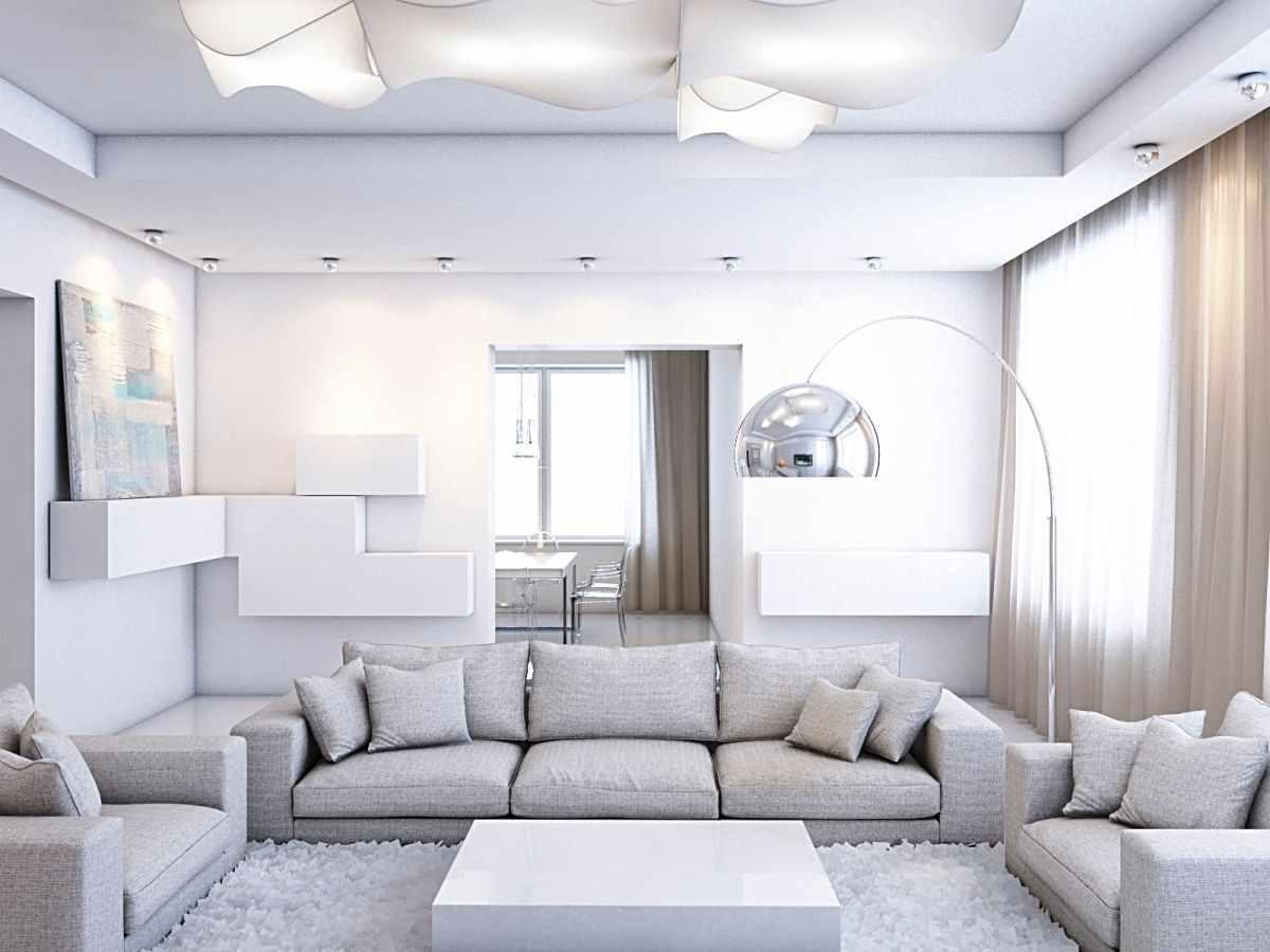 lựa chọn sử dụng một thiết kế khác thường của phòng khách theo phong cách tối giản