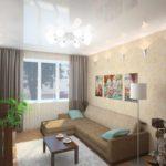 version du design insolite du salon photo 16 m²