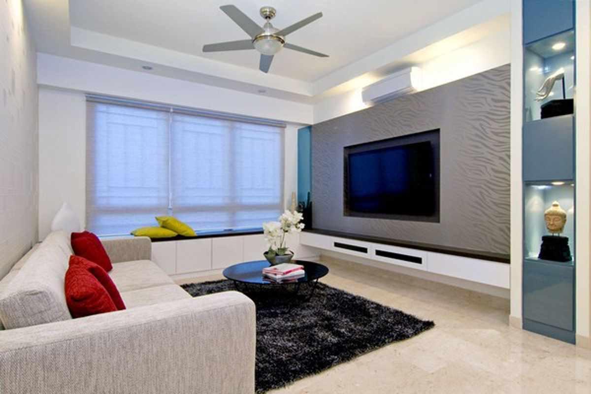 idée d'un design insolite d'un séjour 16 m²