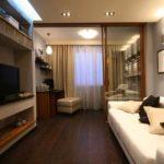 biến thể của nội thất khác thường của phòng khách hình ảnh 19-20 m2