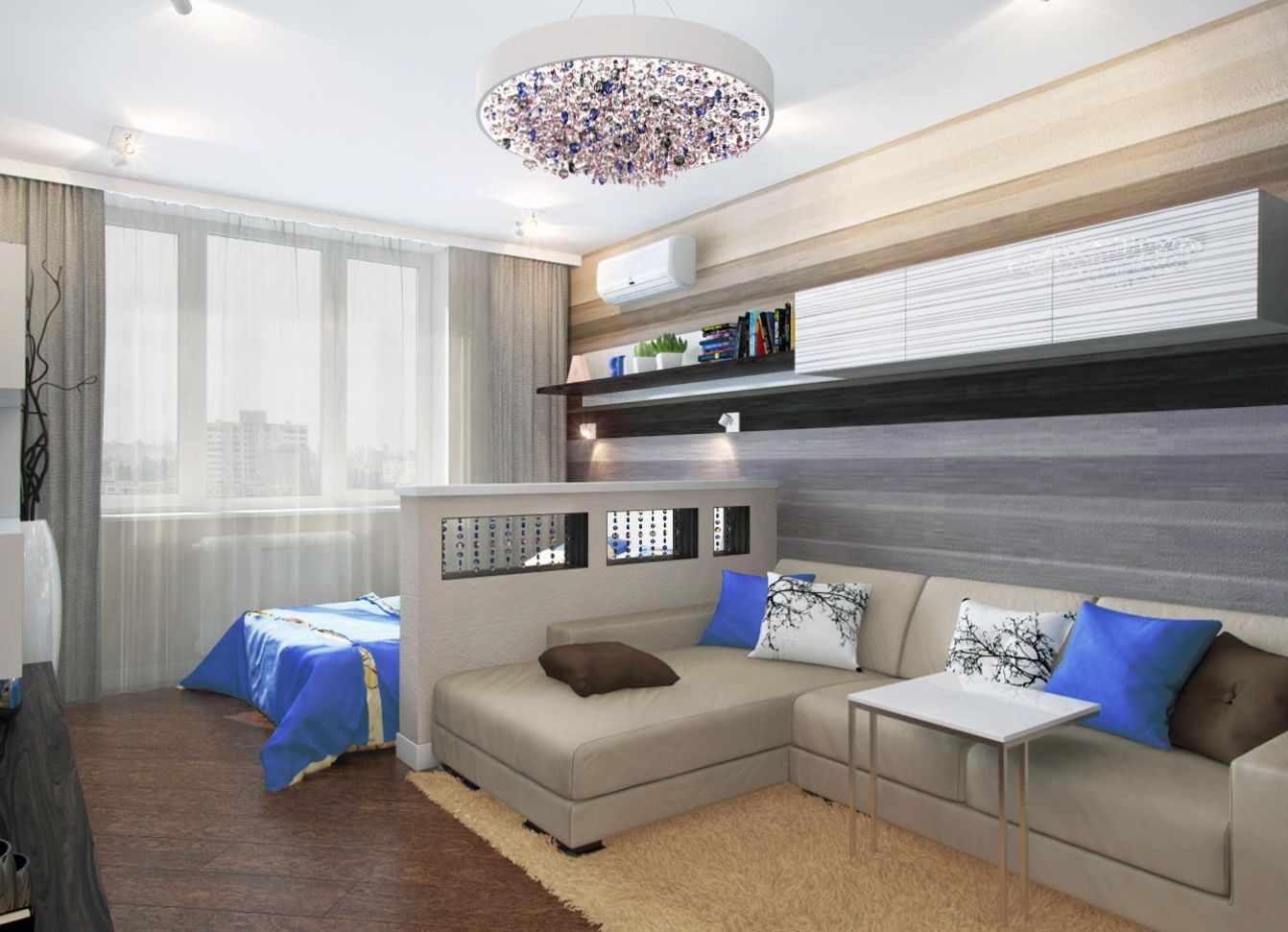 Un exemple de salon lumineux de 17 m²