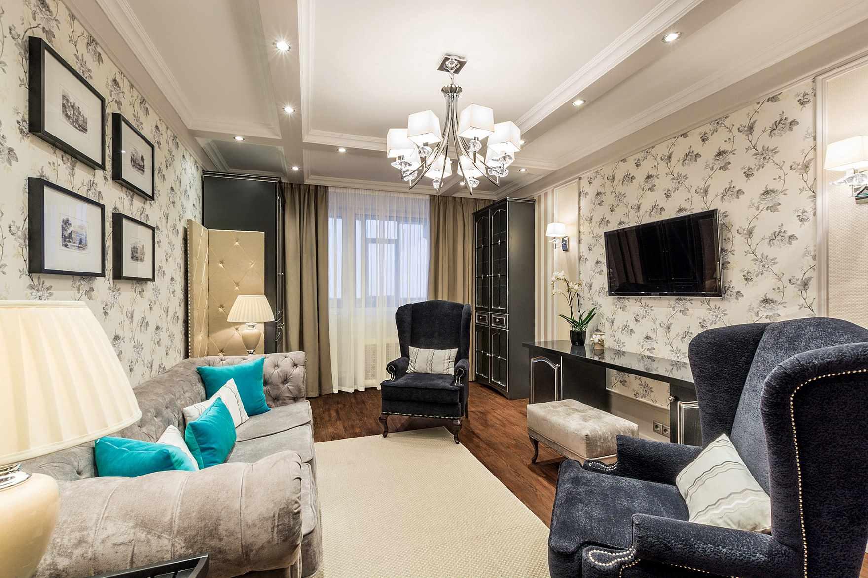 possibilité d'un bel intérieur d'un séjour 16 m²
