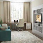 variante d'un intérieur lumineux d'un séjour 17 m² photo