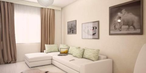 l'idée d'un beau design d'un salon photo 19-20 m²