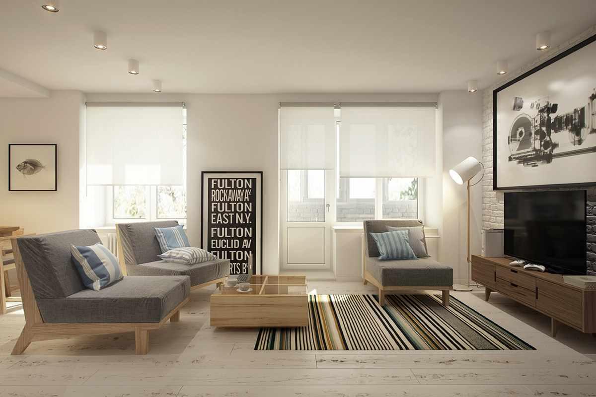 Un exemple d'un beau salon intérieur de 17 m²