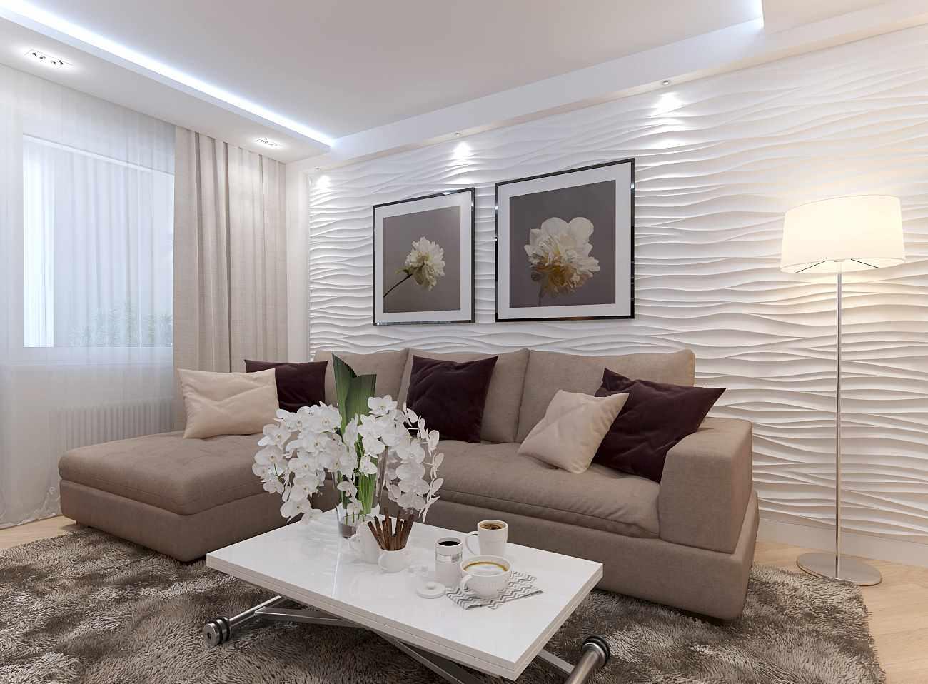 ý tưởng trang trí tươi sáng của phòng khách 19-20 m2