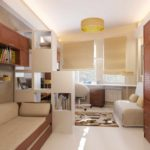 biến thể của phong cách tươi sáng của phòng khách hình ảnh 19-20 m2