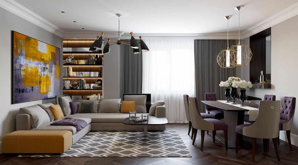 idée d'un design insolite d'un salon de 25 m²