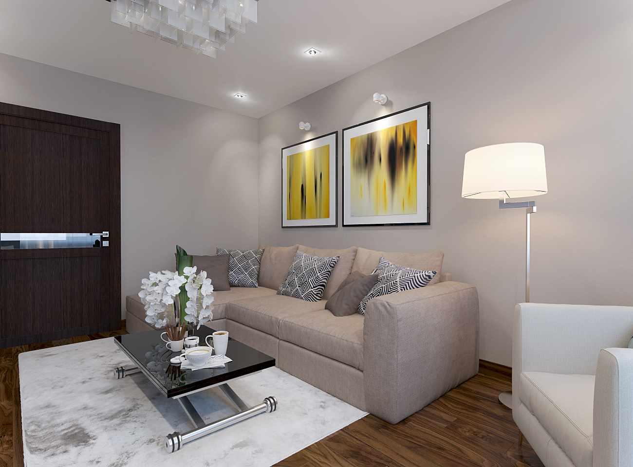variante du design lumineux du salon 17 m²