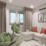 ví dụ về phong cách khác thường của phòng khách ảnh 19-20 m2