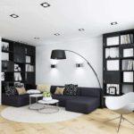 l'idée d'un beau design d'un salon photo de 16 m²