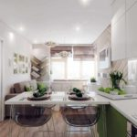 Un exemple d'un design lumineux d'un salon photo de 25 m²