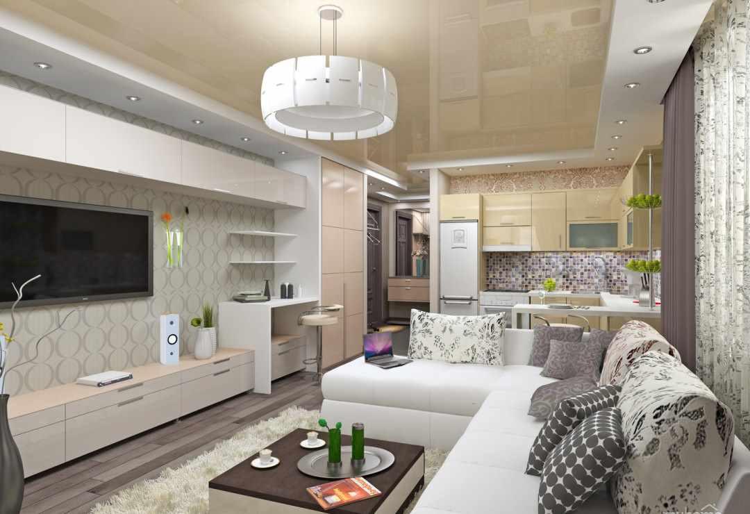variante du bel intérieur du salon 25 m²