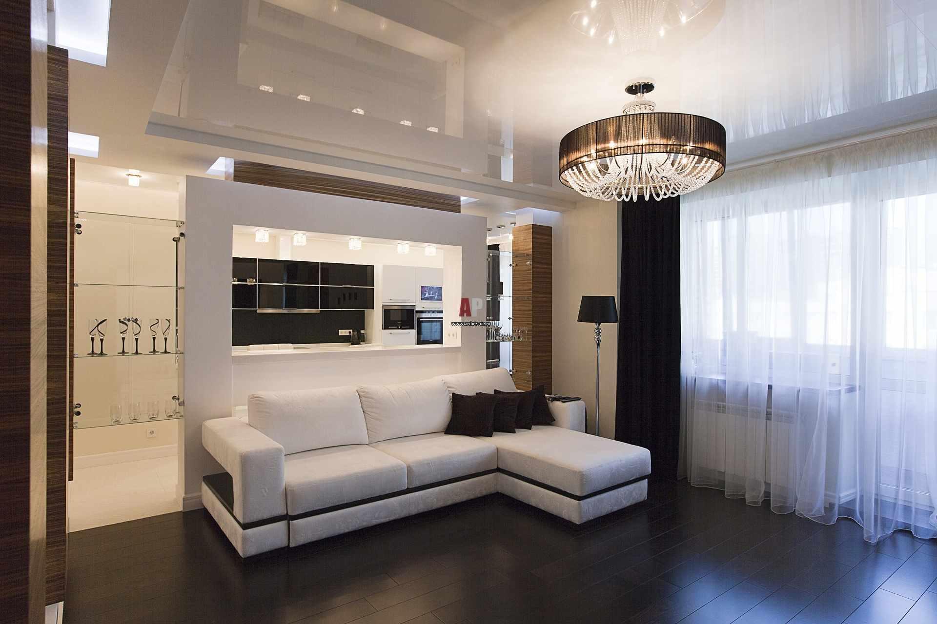 version du design inhabituel du salon 16 m²
