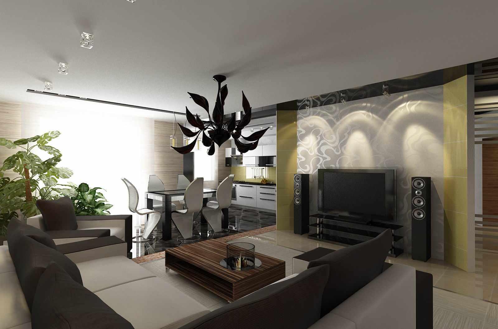 Un exemple de décoration lumineuse d'un salon de 25 m²