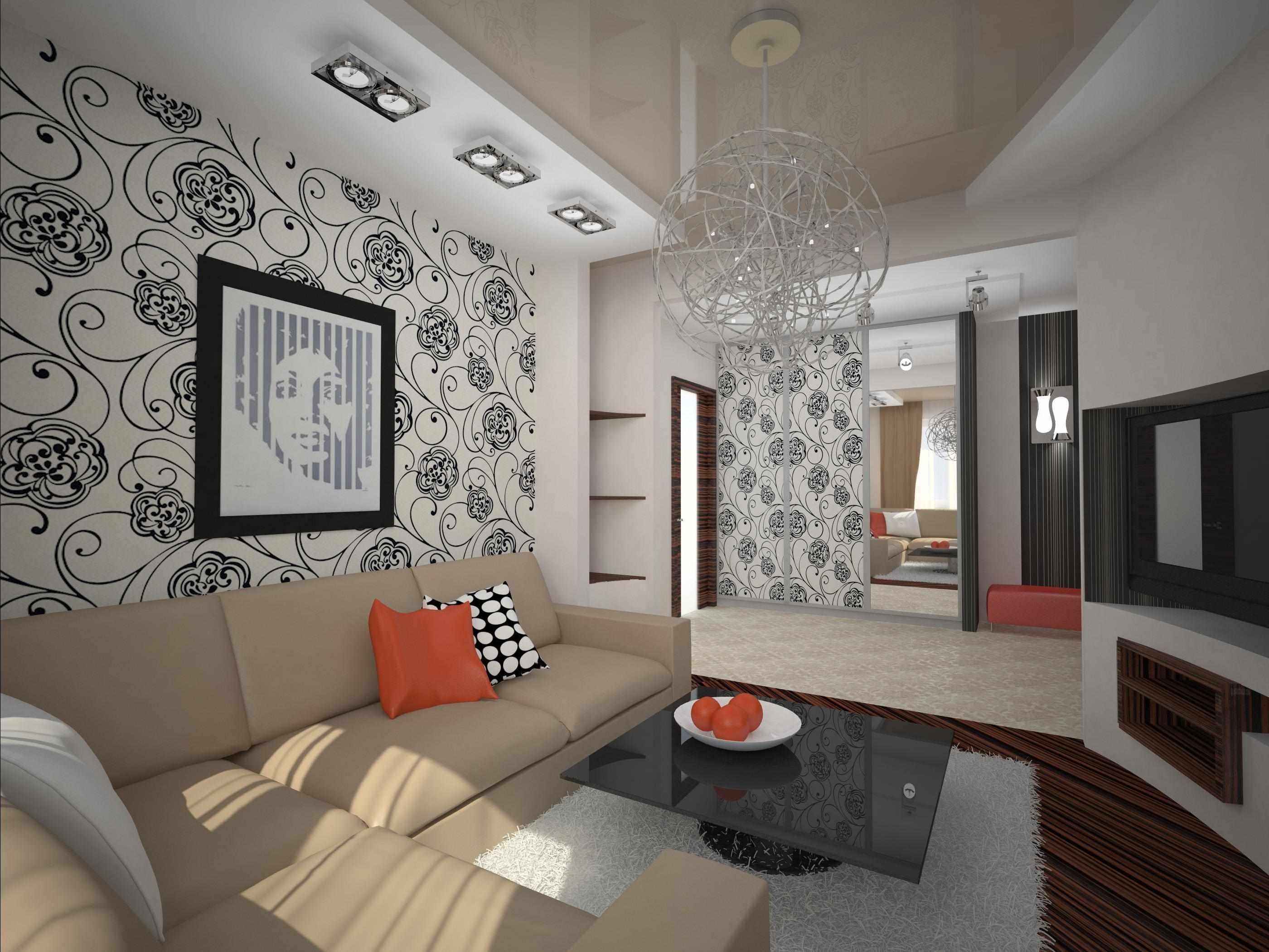exemple d'un bel intérieur d'un séjour 16 m²