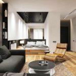 variante du design inhabituel du salon photo de 25 m²