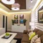 l'idée d'un beau salon de style photo 25 m²