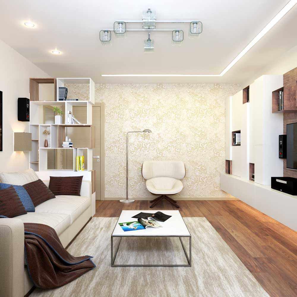 version du beau style du salon 16 m²