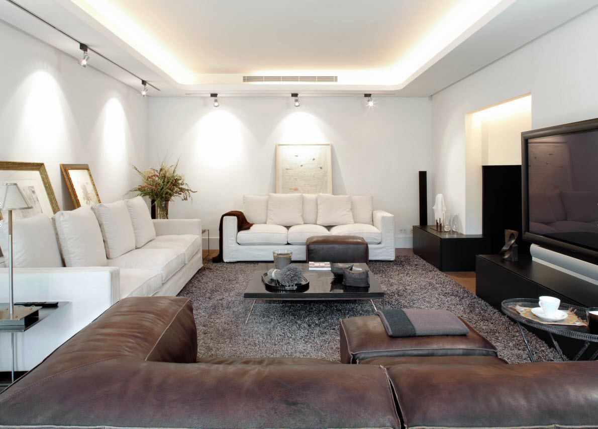 Một ví dụ về trang trí đẹp của phòng khách 19-20 m2