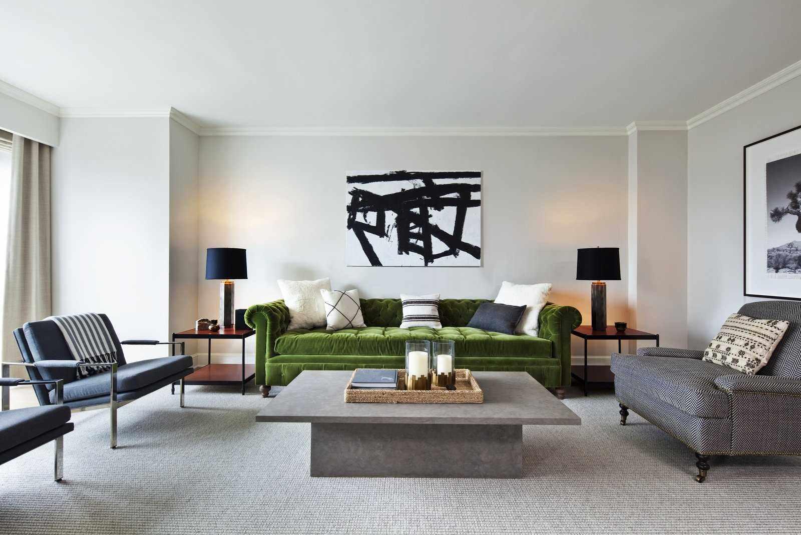ý tưởng thiết kế khác thường của phòng khách 19-20 m2