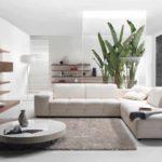 ví dụ về việc áp dụng một thiết kế khác thường của phòng khách theo phong cách ảnh tối giản