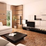 một ví dụ về việc sử dụng thiết kế sáng sủa của phòng khách theo phong cách ảnh tối giản