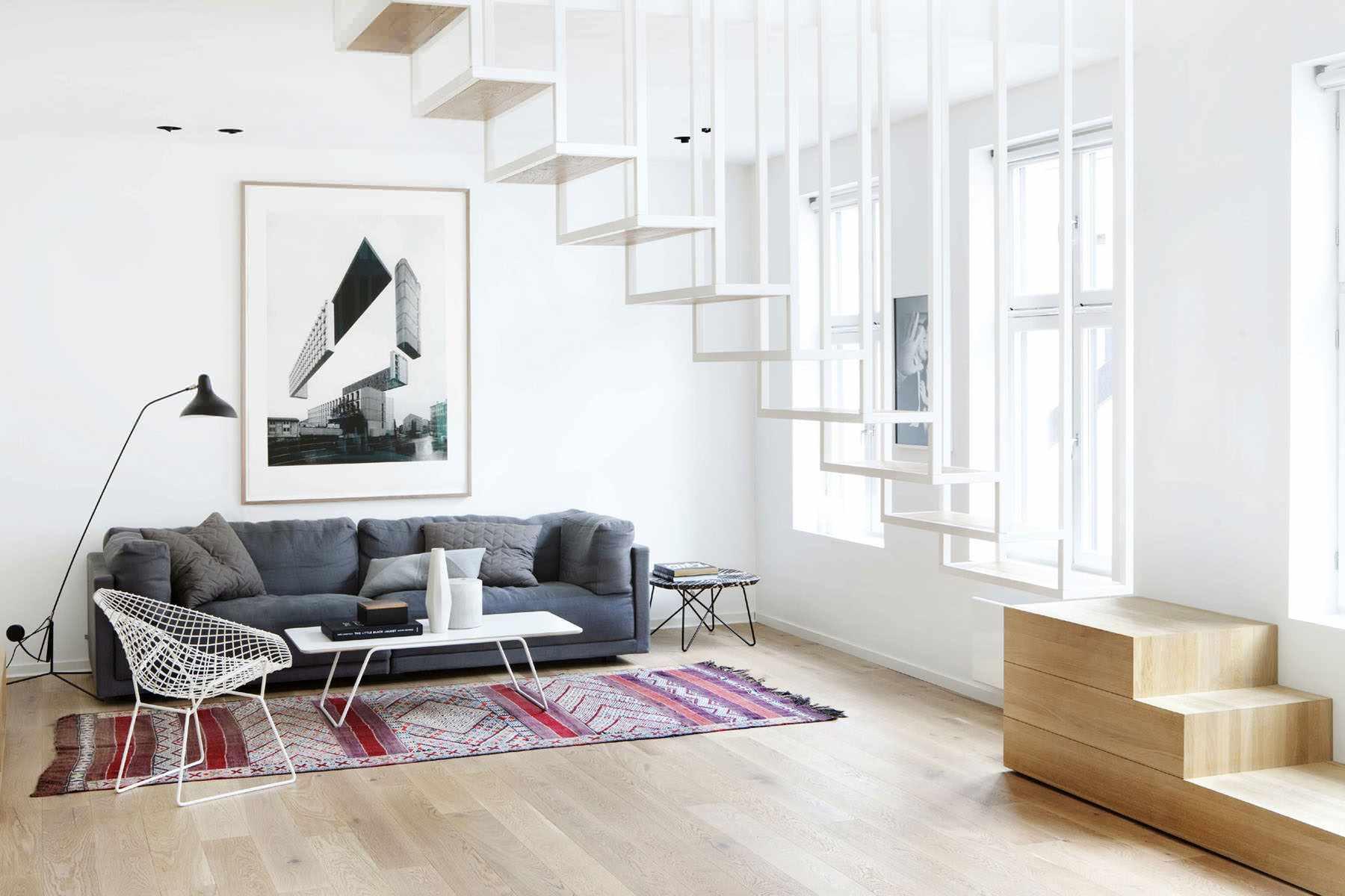 lựa chọn sử dụng nội thất đẹp của phòng khách theo phong cách tối giản