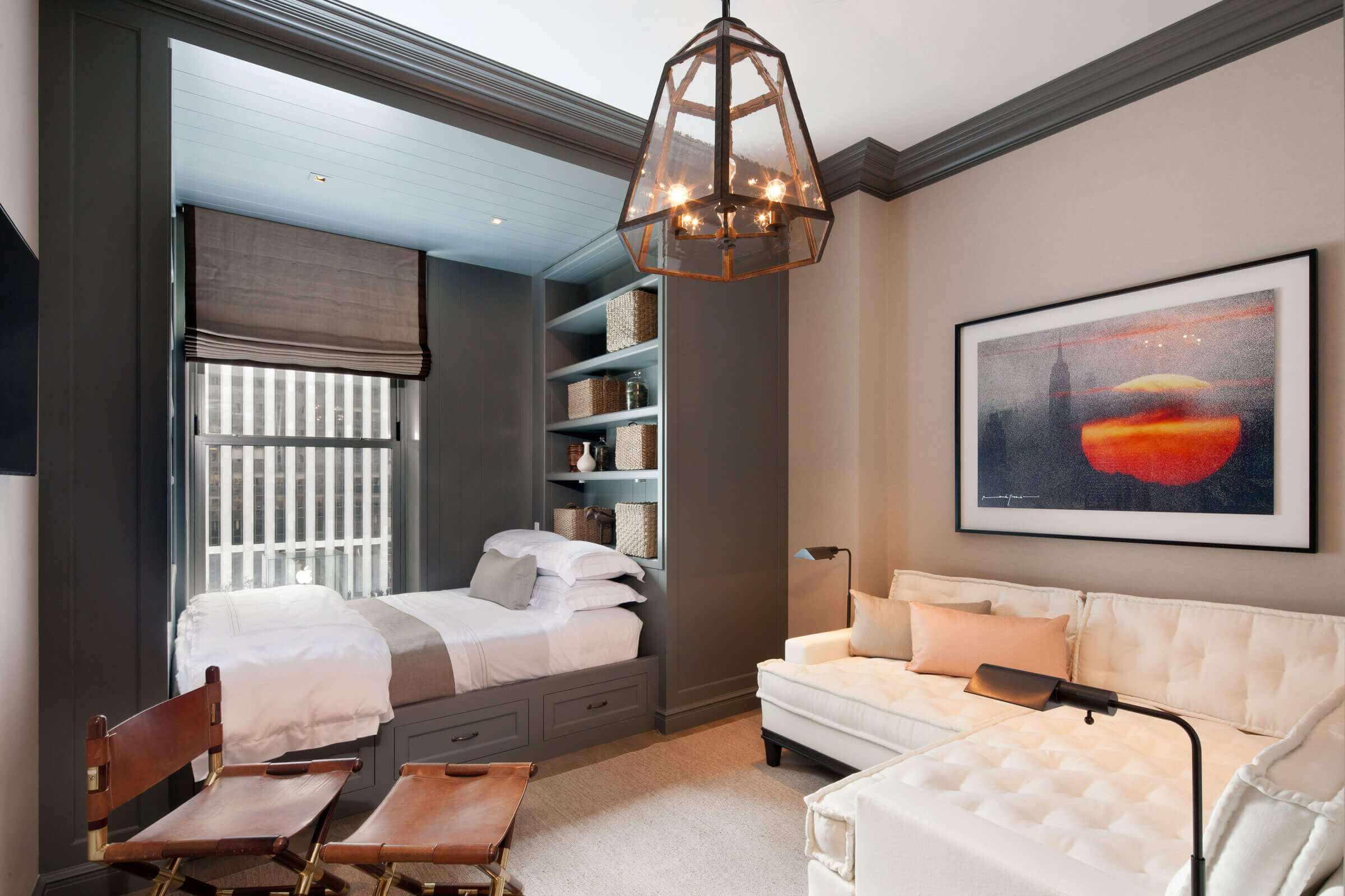 variante du style lumineux du salon 17 m²