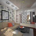 một ví dụ về trang trí ánh sáng của phòng khách hình ảnh 19-20 m2