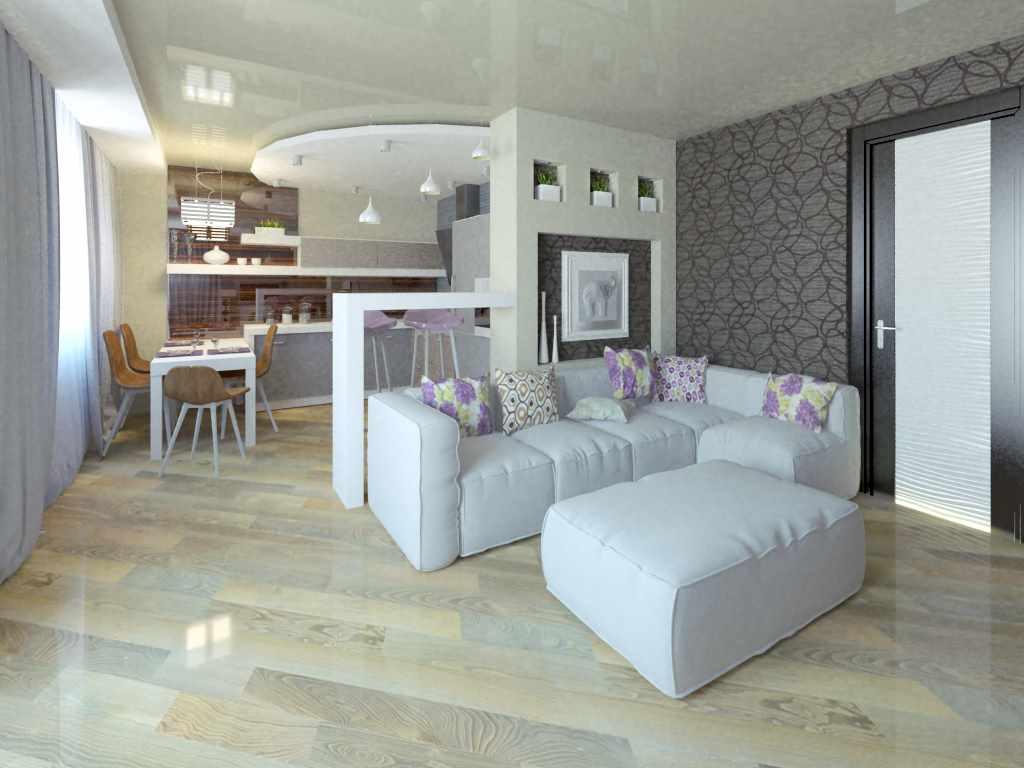 Un exemple d'un bel intérieur d'un salon de 25 m²