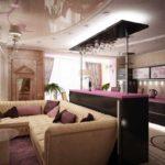version du bel intérieur du salon photo 17 m²