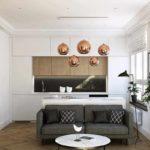 variante d'un décor clair d'un salon photo de 25 m²