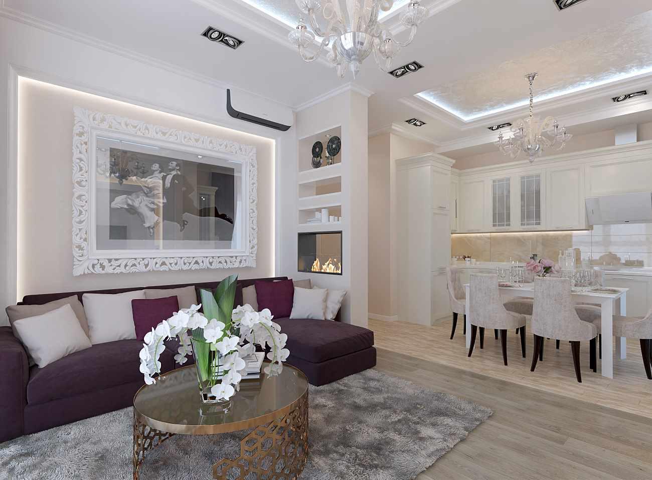 version de la belle conception du salon 25 m²