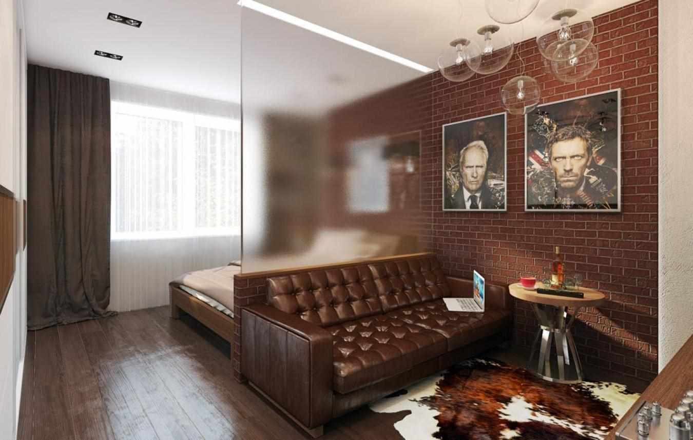 version du beau décor du salon 17 m²
