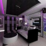 variante d'un beau décor d'un salon photo de 16 m²