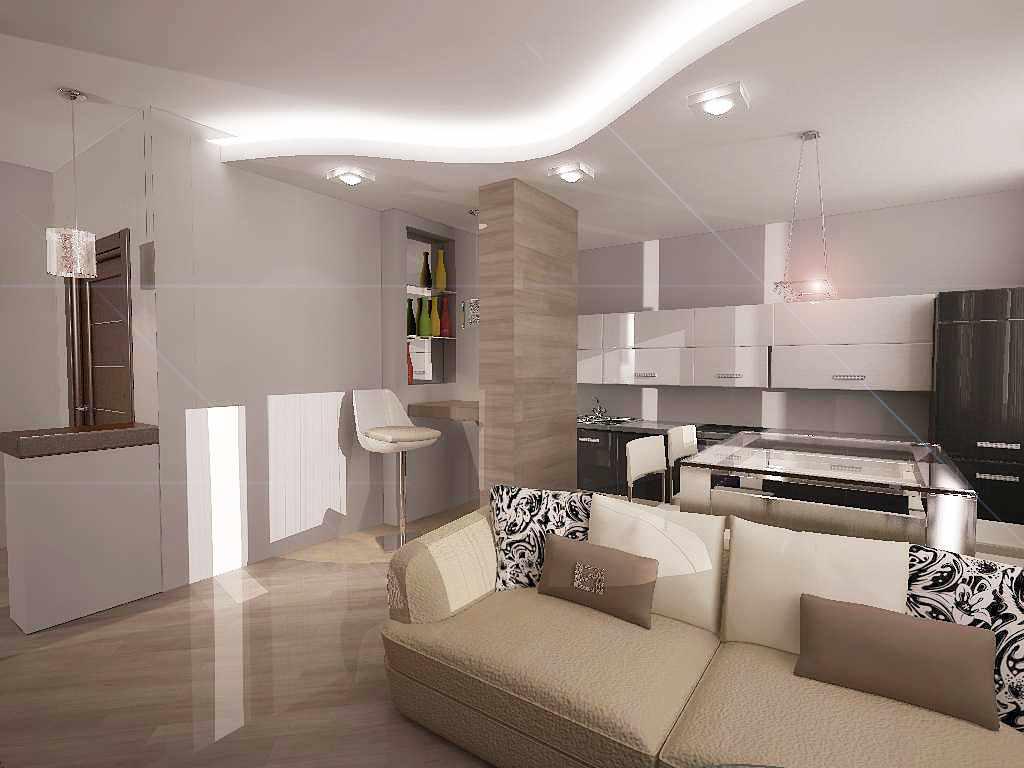 version light-room du salon 25 m²
