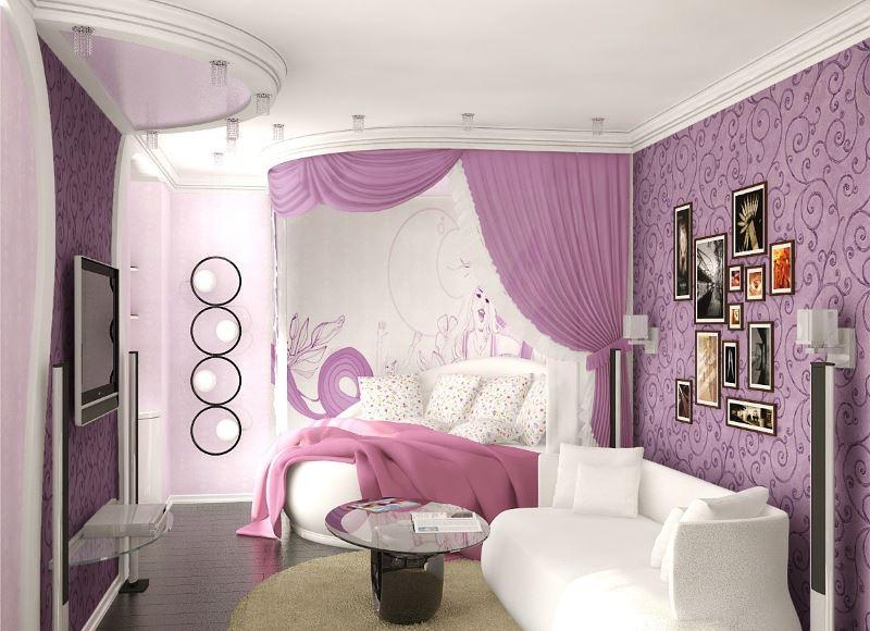 Canapé blanc dans la chambre des filles
