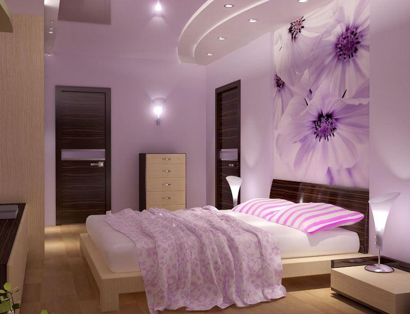 Intérieur d'une chambre moderne pour une jeune fille