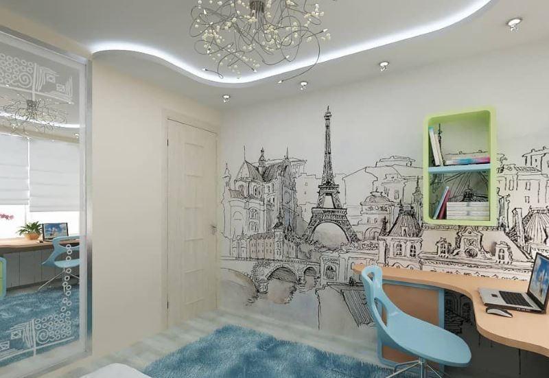 Fond d'écran monochrome avec l'image de la capitale de la France