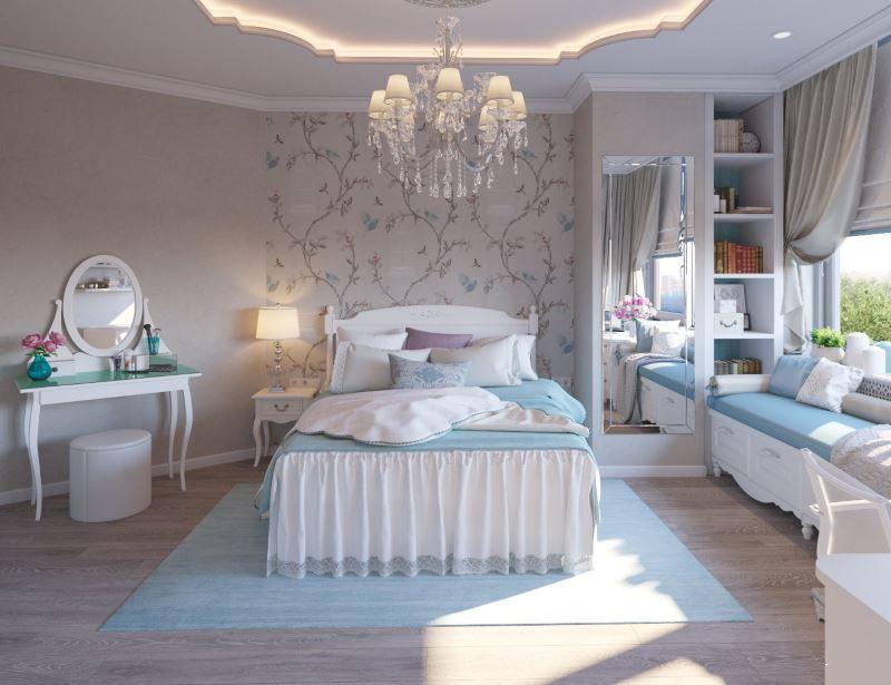 Chambre design dans un style classique
