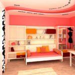 Décoration de chambre pour une jeune fille aux couleurs roses